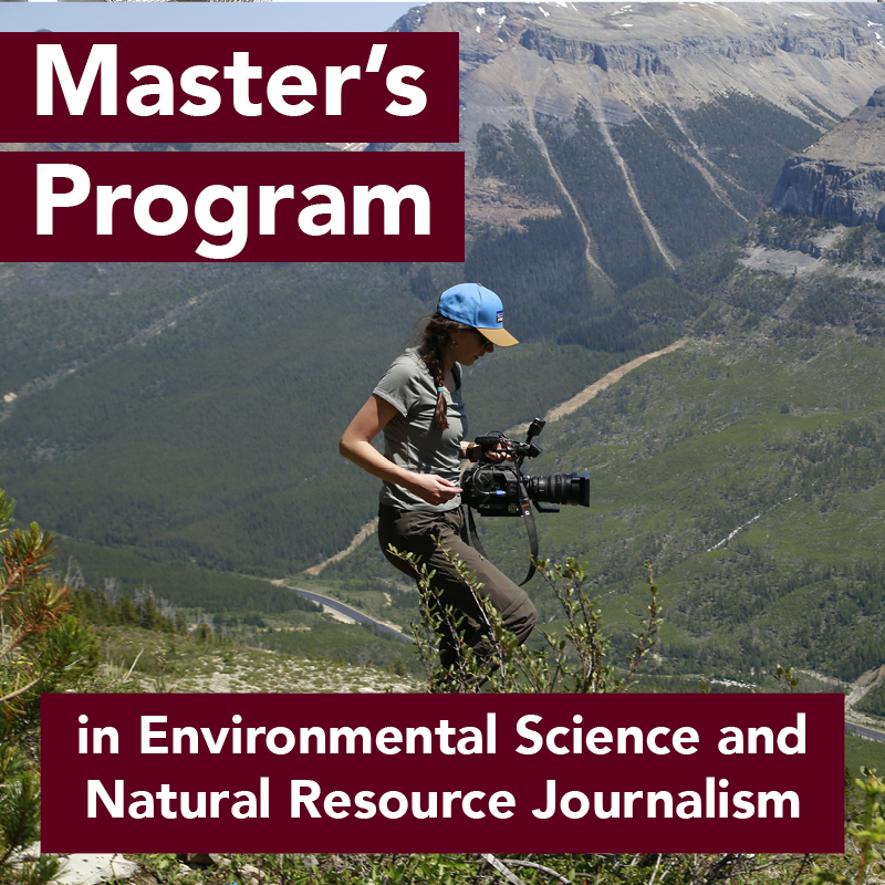 Woman with camera on mountain. Master's Program